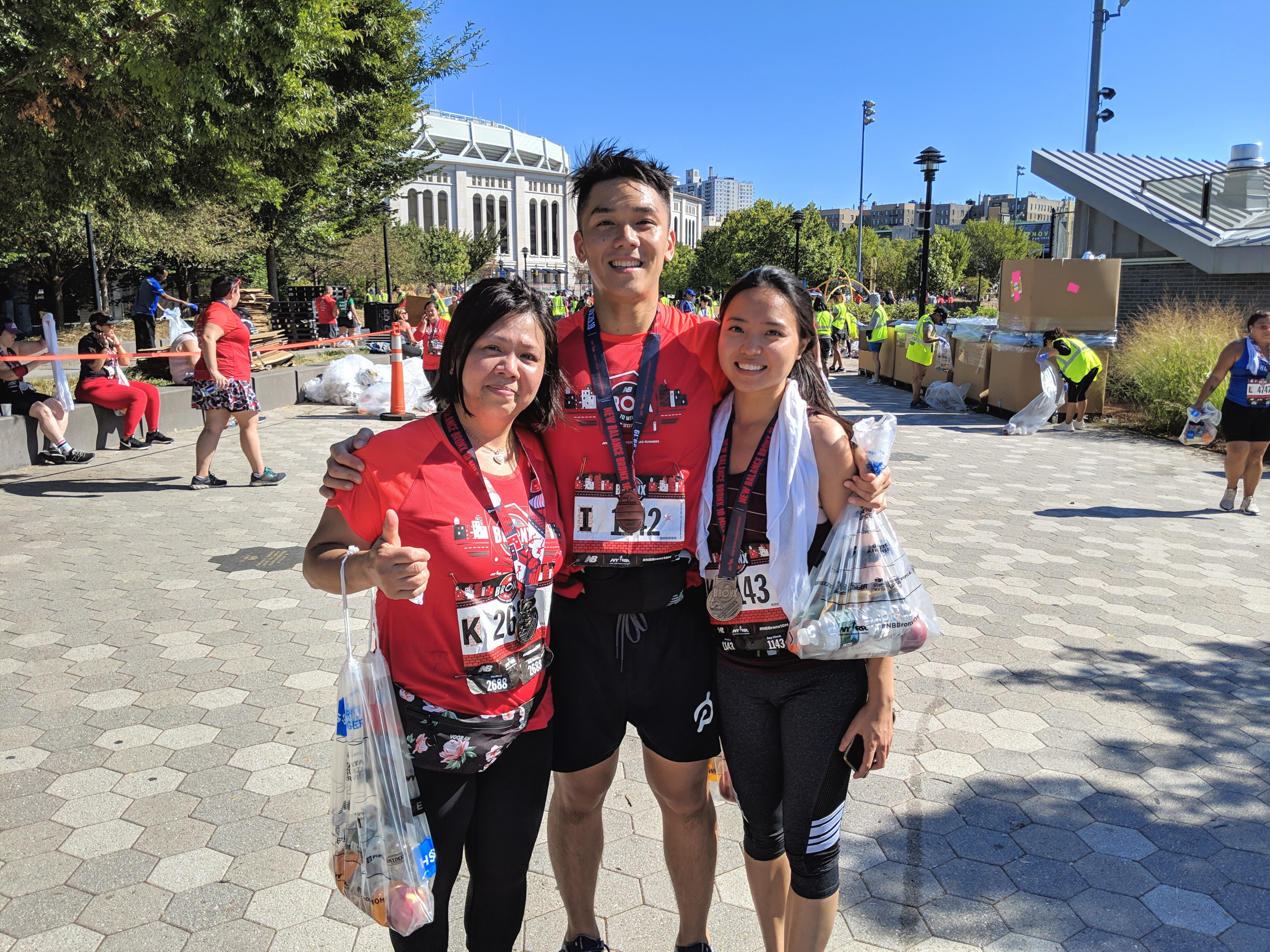 Finished the Bronx 10 Mile with my girlfriend and mom
